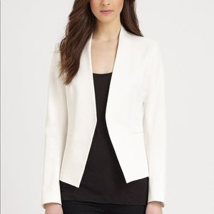 Theory off white cropped blazer